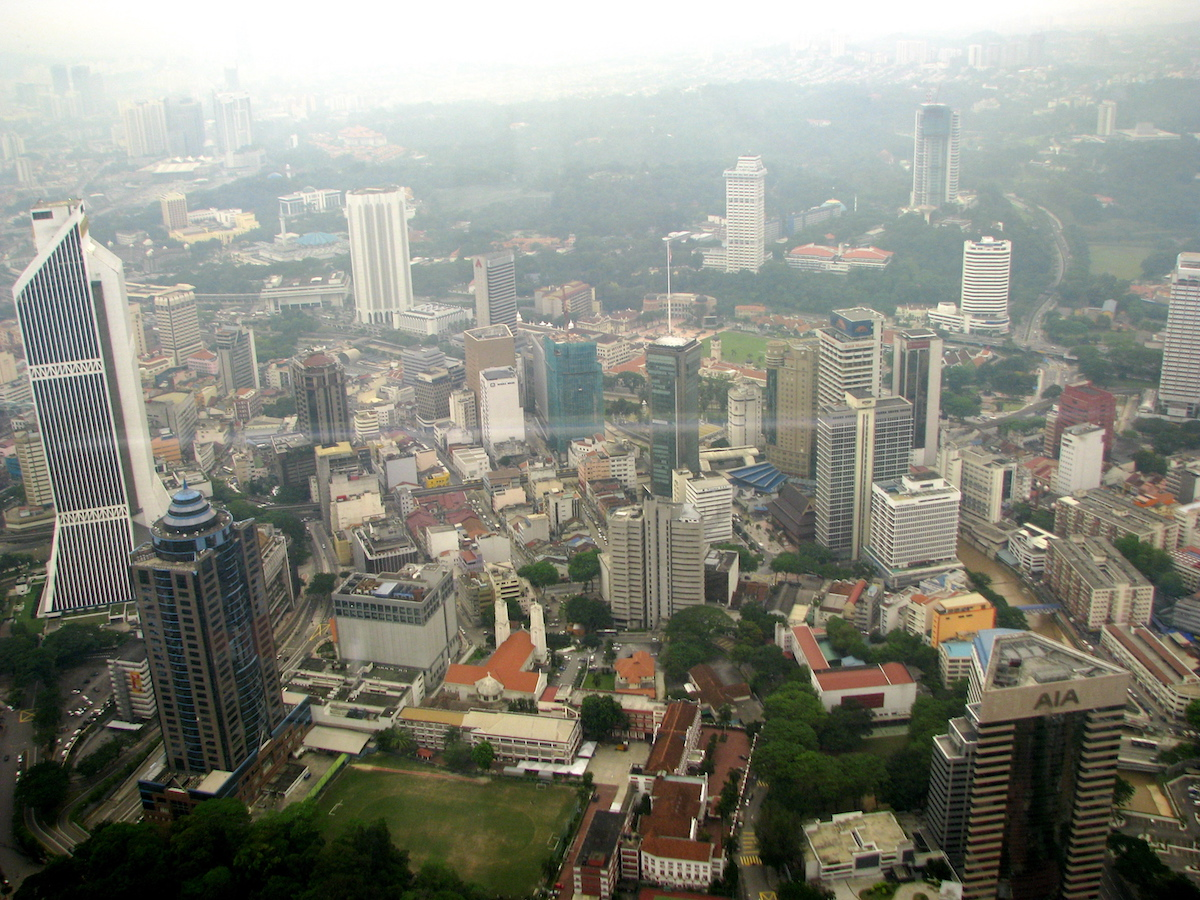 View from KL Tower observation deck